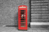 Red call box — Stock Photo