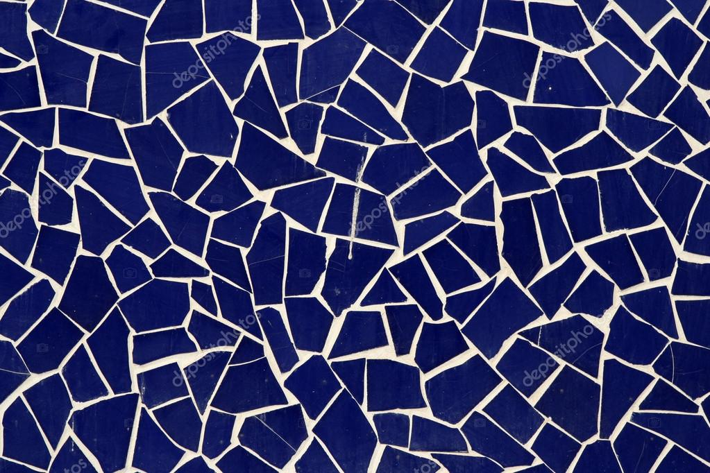 Different shape tiles mosaic on wall — Stock Photo #12789761