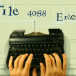 Stockfoto: Typewriter technology