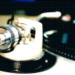 Stock Photo: Record turntable with needle in focus