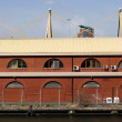 Docklands warehouses — Stock Photo