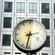Docklands clocks — Stock Photo