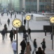 Docklands clocks - Stockfoto