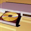 Stock Photo: Dvd player