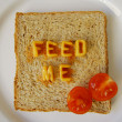 Stock Photo: Feed me words on toast