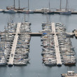 Yachts and boats in a harbour — Stock Photo