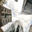 Fisheye of swiss re building — Stockfoto