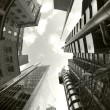 Fisheye of swiss re and lloyds buildings - Stockfoto