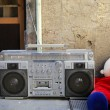 图库照片: Retro ghettoblaster