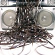 Tape spewing boombox - Photo