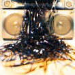 Stock Photo: Tape spewing boombox