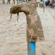 Foto Stock: Glastonbury wellie