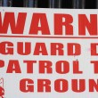 Stock Photo: Gaurd dog sign