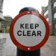Foto Stock: Keep clear