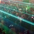 Stock Photo: Laser crowd