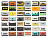 Old cassette collection — Foto de Stock