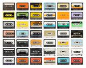Vieja colección de cassettes — Foto de Stock