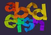 красочные алфавит — Стоковое фото