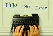 Technologie de la machine à écrire — Photo