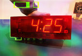 Electronic clock — Stock Photo