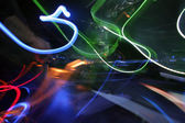 Dj and lights abstract — Stock Photo