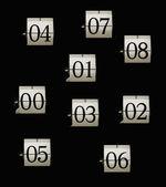 Flip clock numbers — Stock Photo