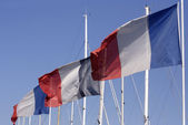 Three french flags — Stock Photo