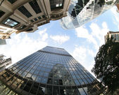 Fisheye of swiss re building — Stock Photo