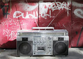 Retro ghettoblaster — 图库照片