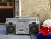 Retro ghettoblaster — Photo