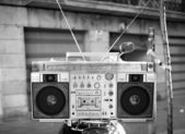 Ghettoblaster retrò — Foto Stock