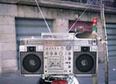 Retro ghettoblaster — ストック写真