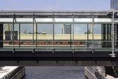 Glassed walkway — Stock Photo