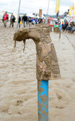 Glastonbury wellie — Stockfoto