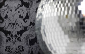 Discoball and wallpaper — Stock Photo