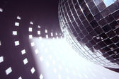 Glitterball and light shapes — Stock Photo