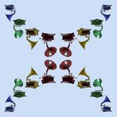 Gramophone pattern — Stock Photo