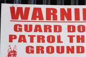 Gaurd dog sign — Stock Photo