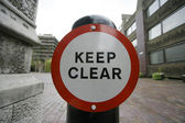 Keep clear — Foto de Stock