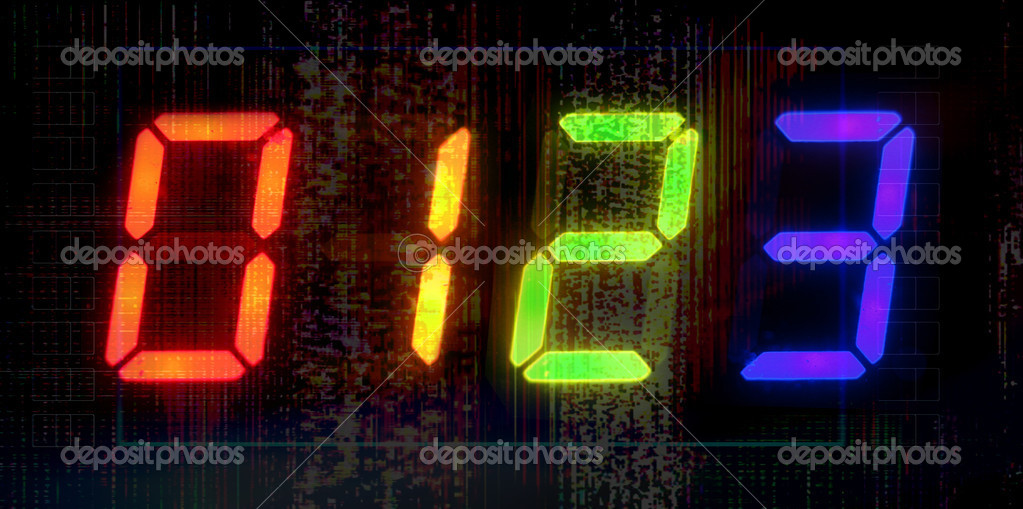 Close-up of digital style numbers  Stock Photo #12791031