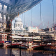 London reflection - Stock Photo
