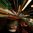 Foto Stock: Night light blur