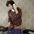 Granny dj - Stock Photo