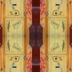 Funky doorway pattern — Stock Photo