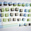 Messy keyboard — Foto de Stock