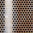 Stock Photo: Metal holes