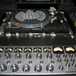 DJ turntables and electronic mixer — Stock Photo