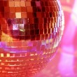 Mirrorball close-up - Stock Photo