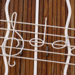 Musical note window — Stock Photo