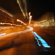 Car lights taken on a long exposure — Foto de Stock